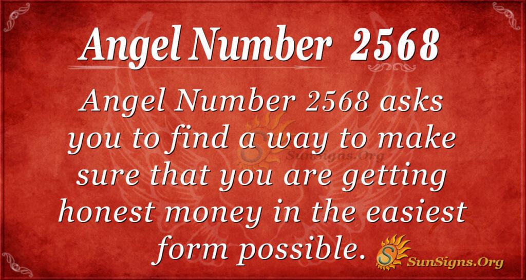 Angel  Number 2568