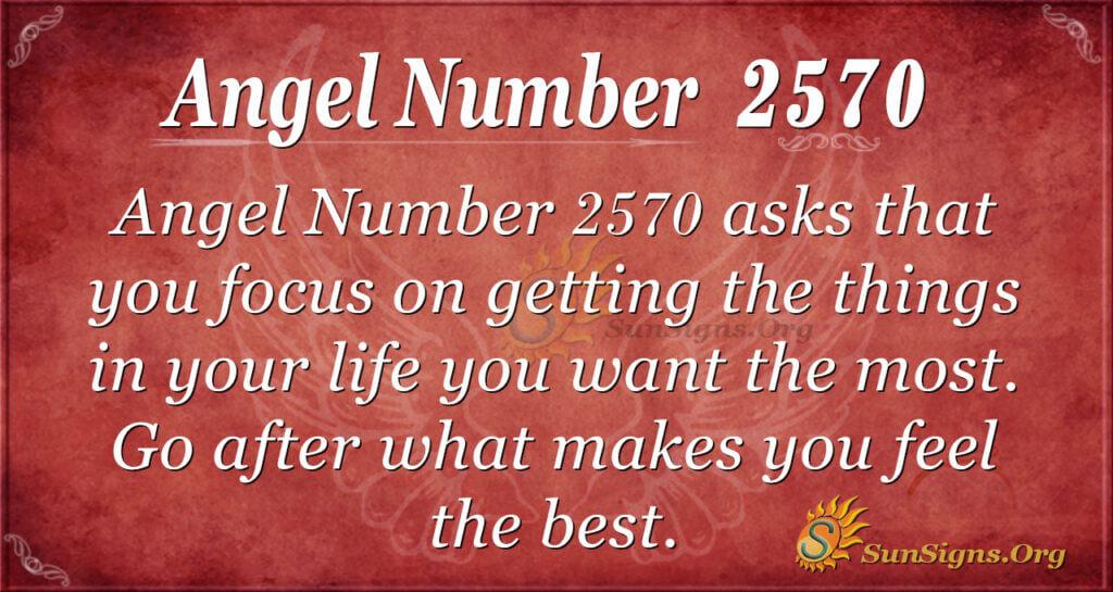 Angel Number 2570