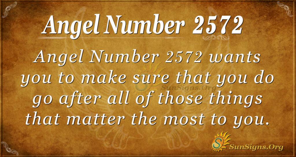 Angel number 2572