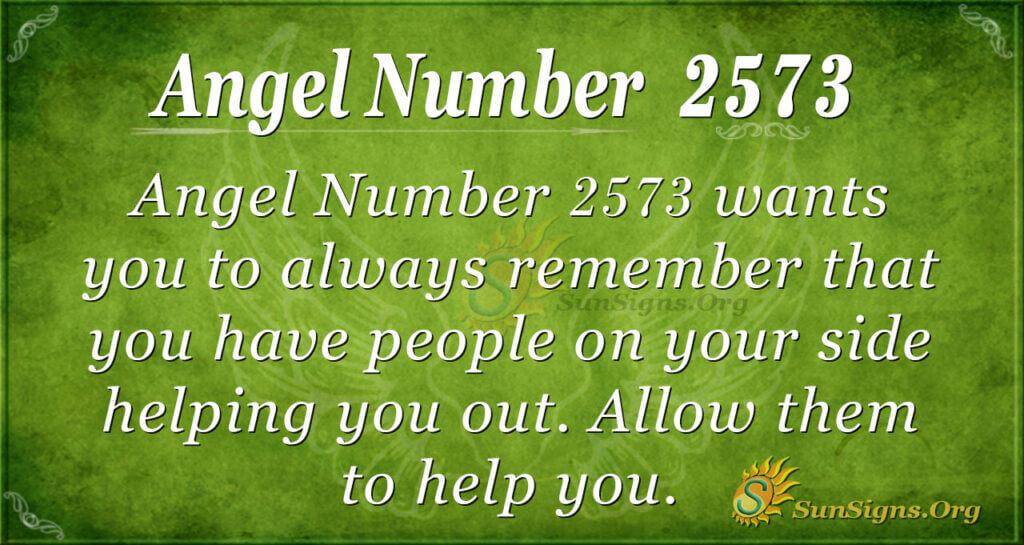 Angel number 2573