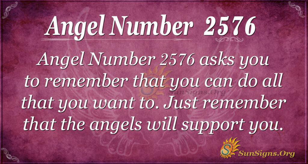 Angel Number 2576