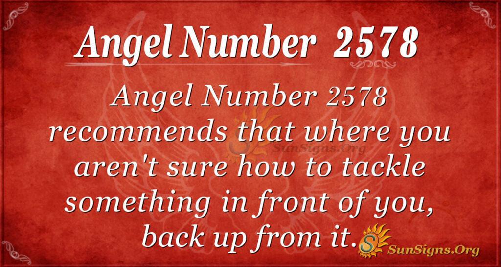 Angel number 2578