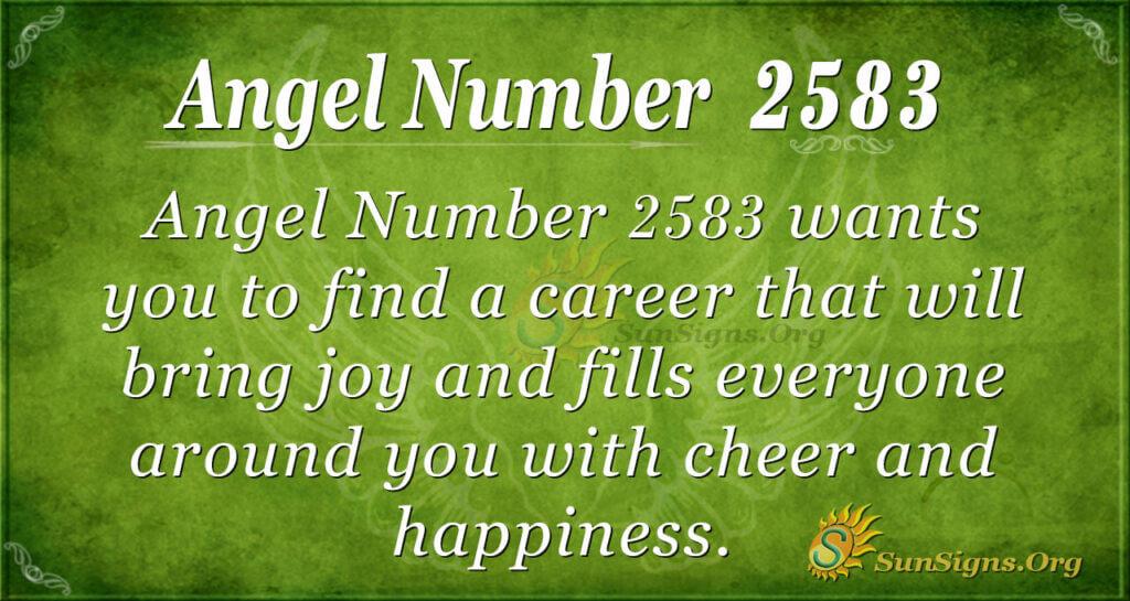 Angel Number 2583