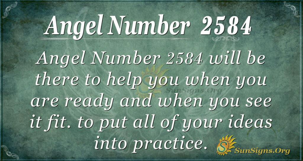 Angel number 2584