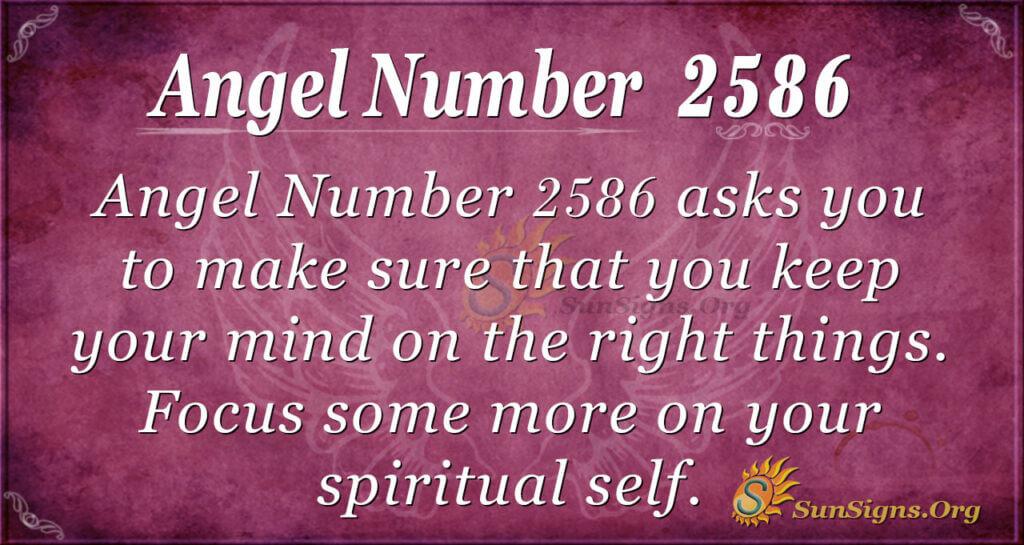 Angel Number 2586