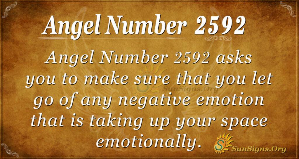 angel Number 2592