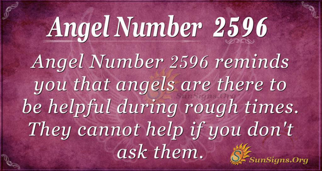 Angel number 2596