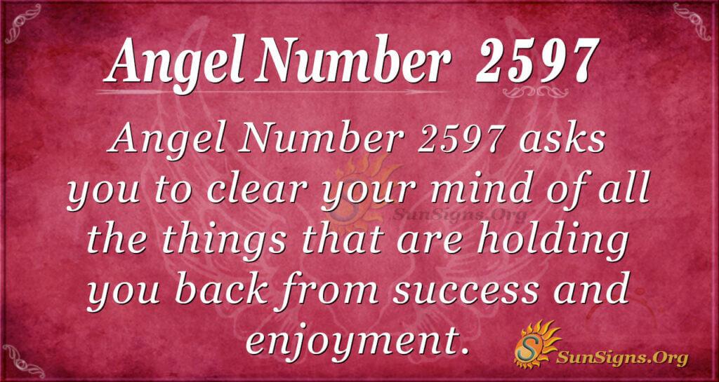 Angel Number 2597