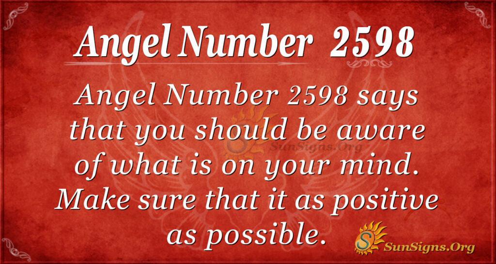 Angel Number 2598