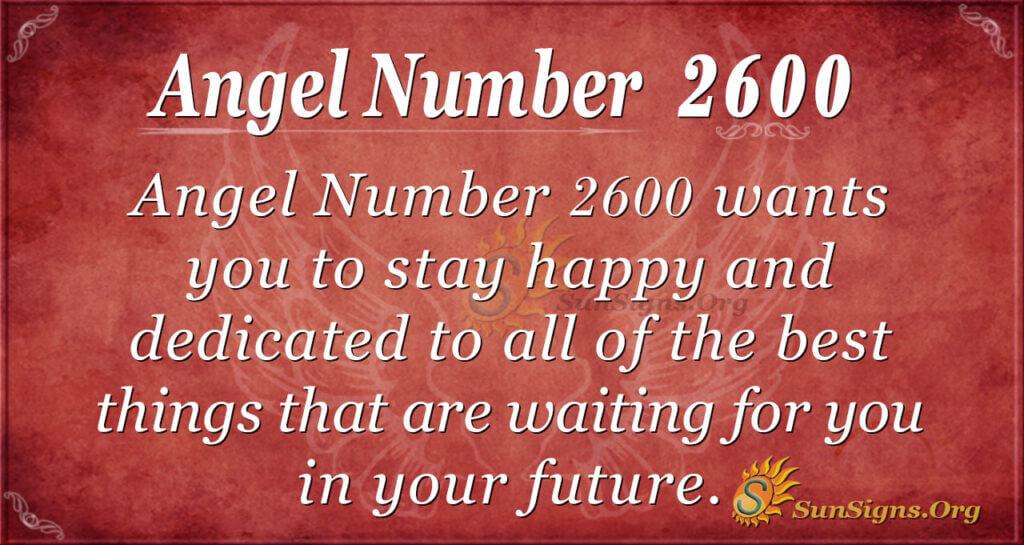 Angel number2600