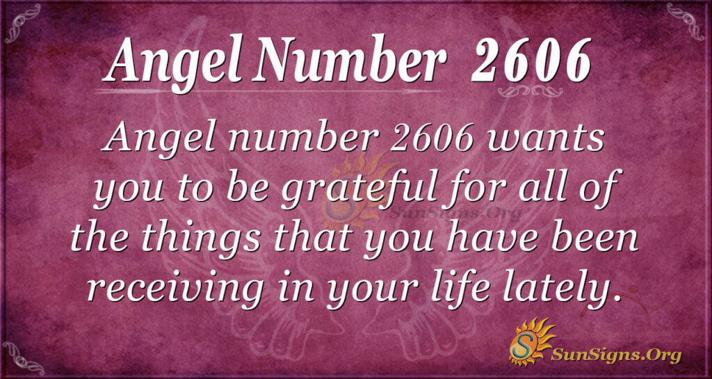 Angel Number 2606