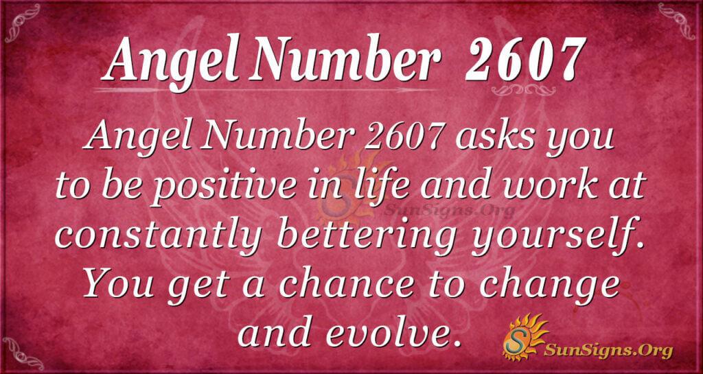 Angel number 2607