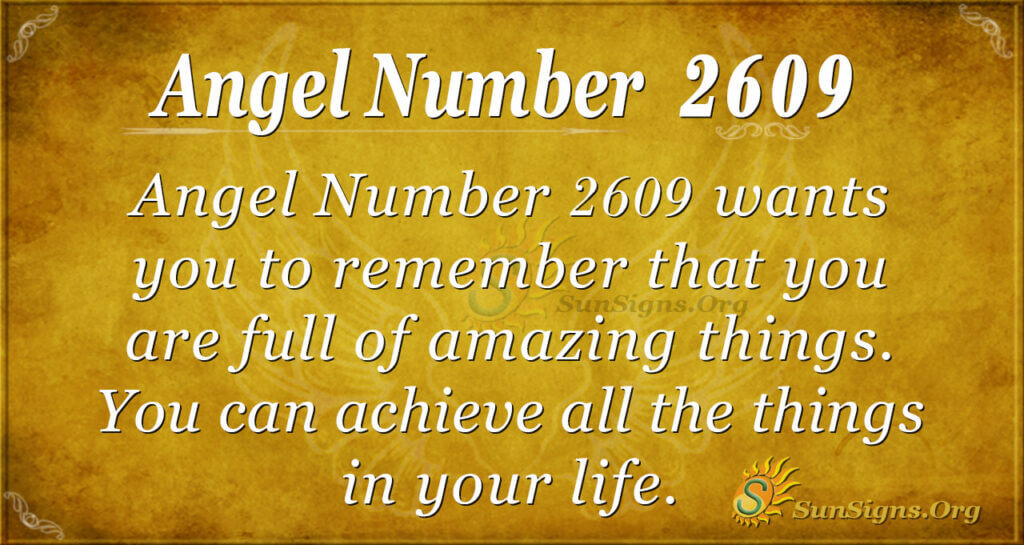 Angel number 2609