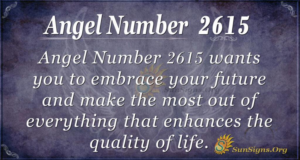 Angel Number 2615