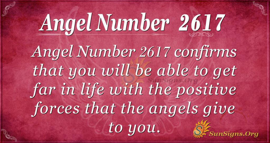 Angel Number 2617