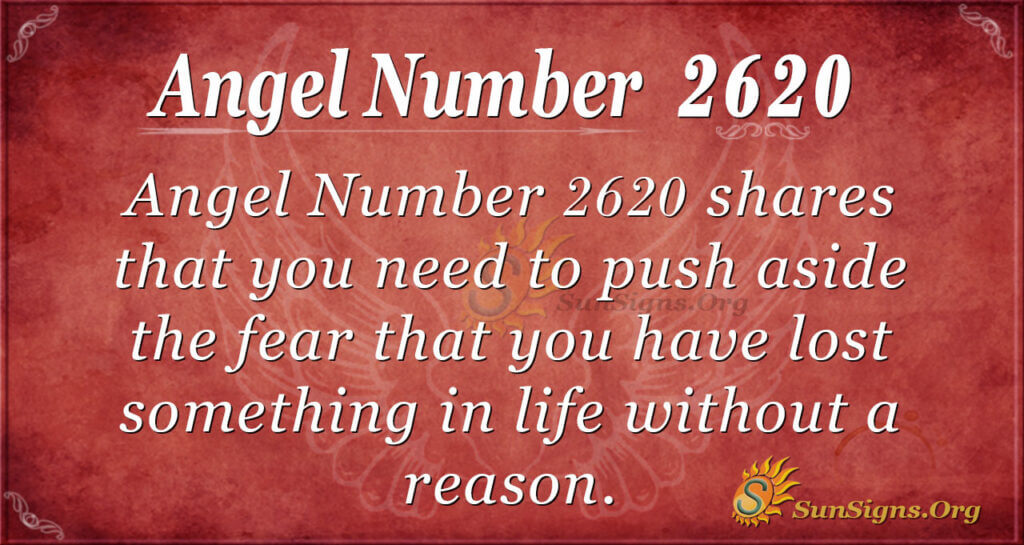 Angel Number 2620