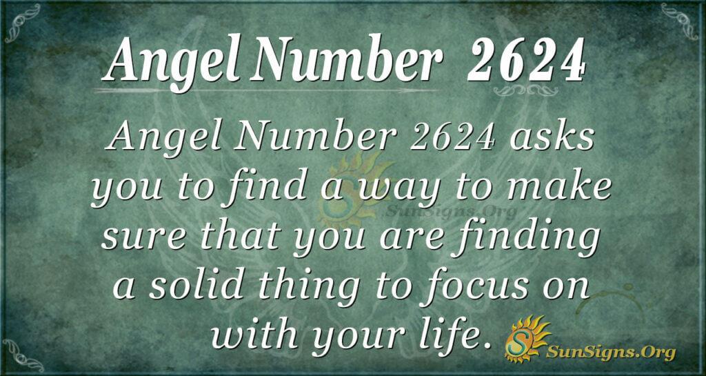 Angel Number 2624