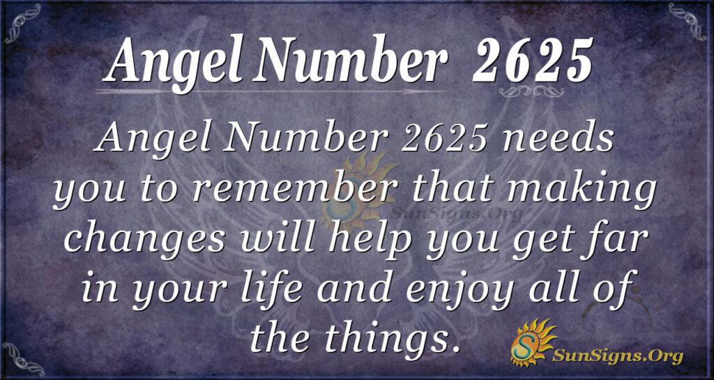 Angel number 2625