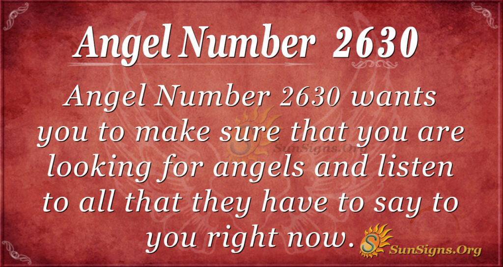 Angel number 2630
