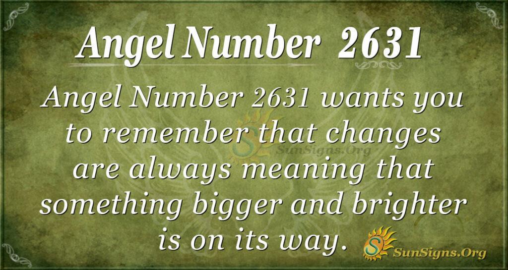 Angel Number 2631
