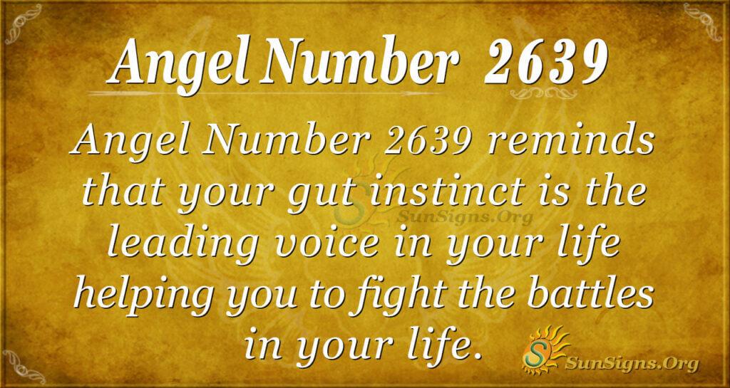 Angel number 2639