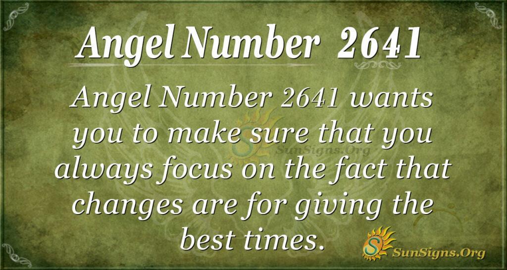 Angel Number 2641