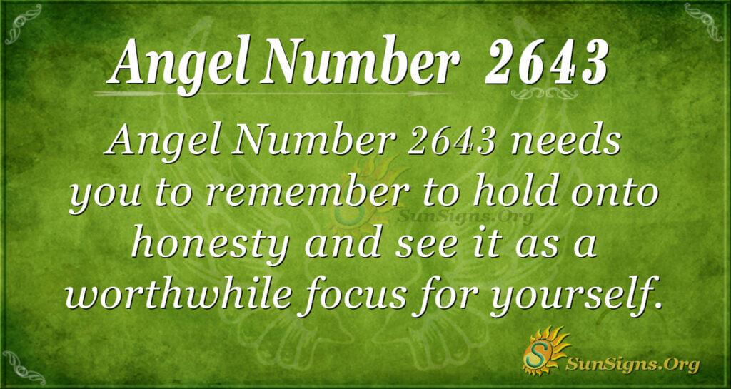 Angel Number 2643