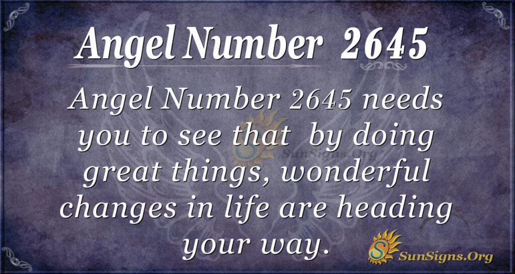 Angel Number 2645