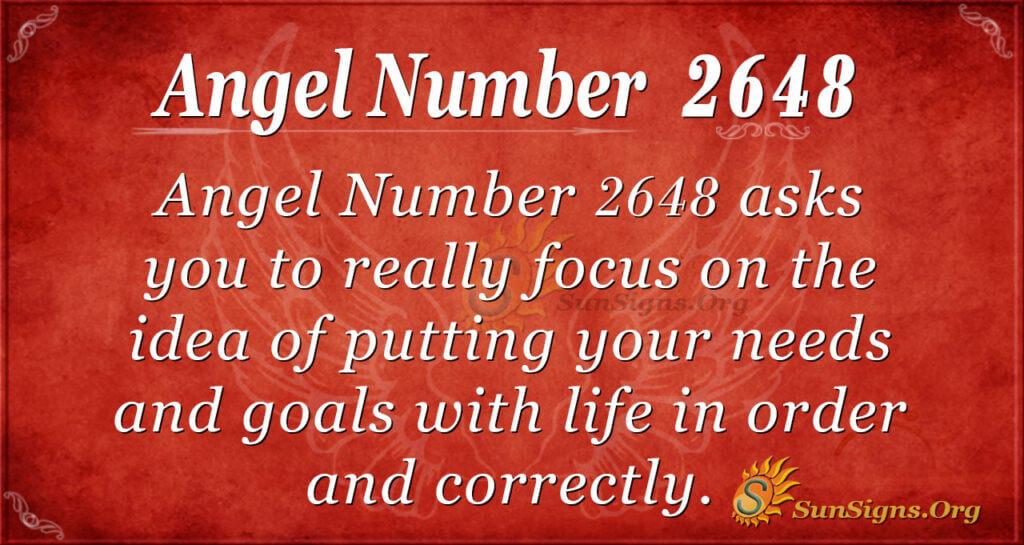 Angel Number 2648