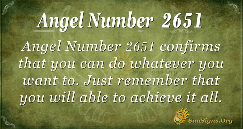 Angel Number 2651