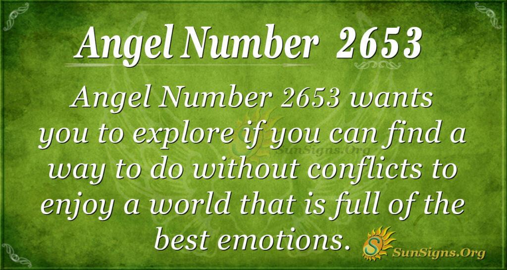Angel number 2653