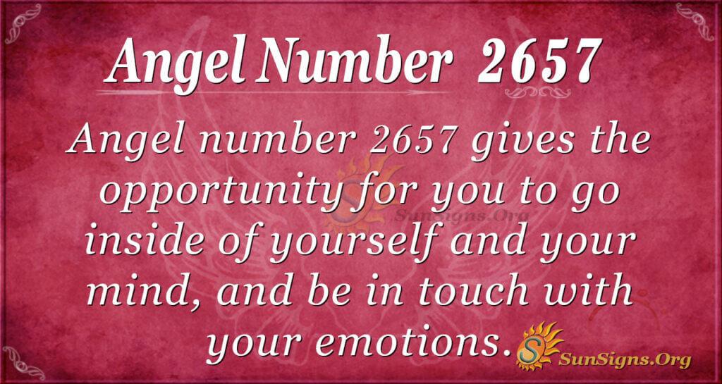 Angel Number 2657