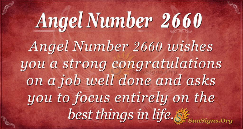 Angel Number 2660