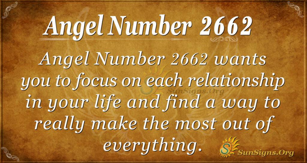 Angel Number 2662