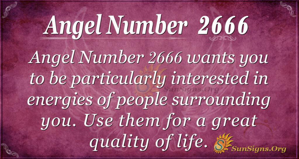 Angel number 2666