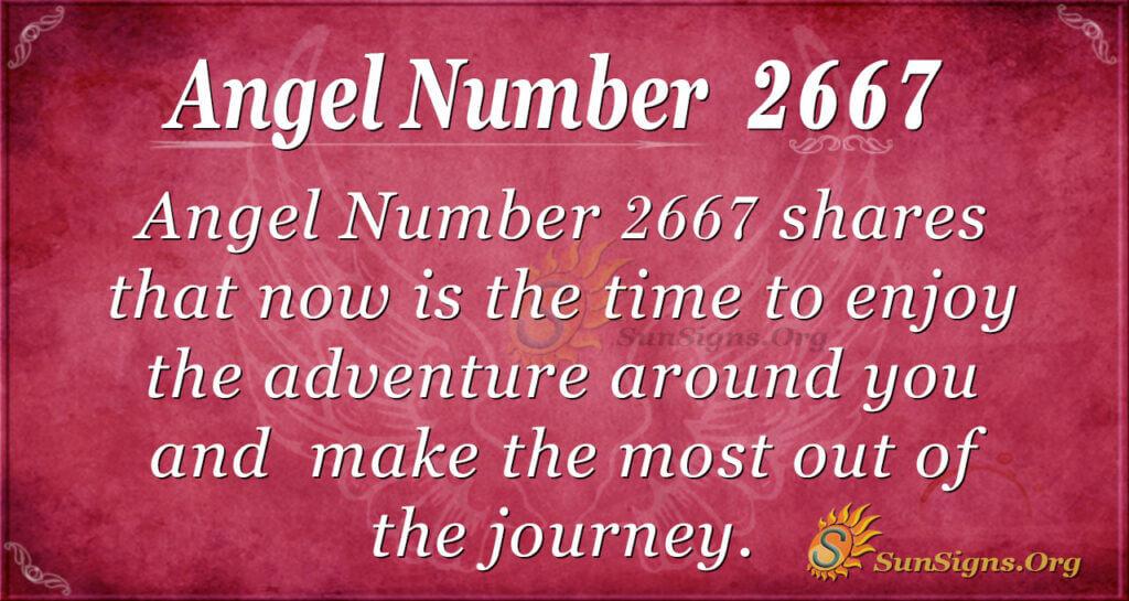 Angel Number 2667