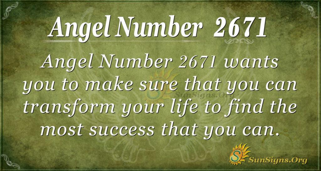 Angel Number 2671