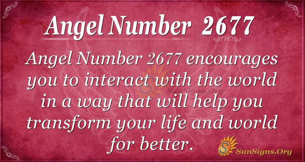 Angel Number 2677