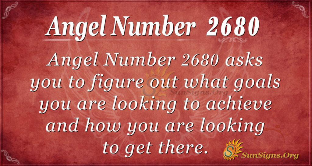 Angel Number 2680