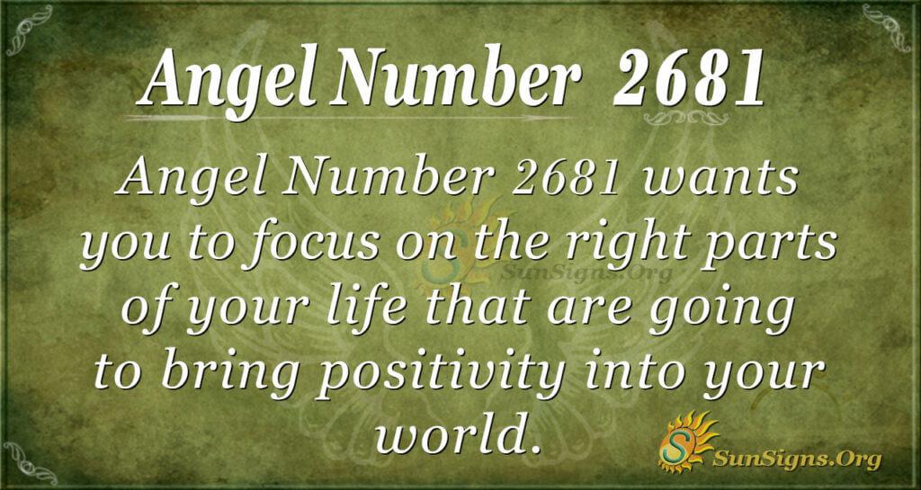 Angel Number 2681