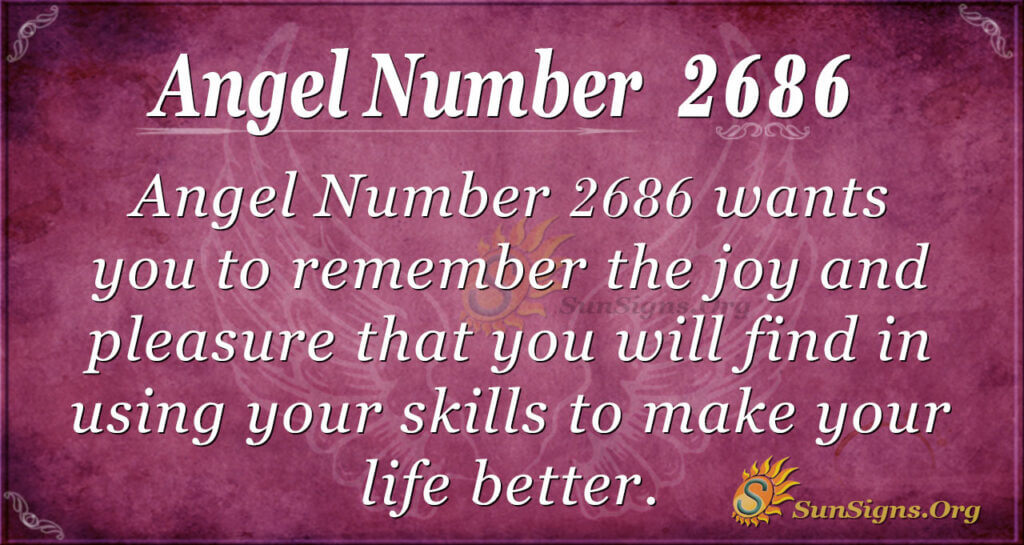 Angel number 2686