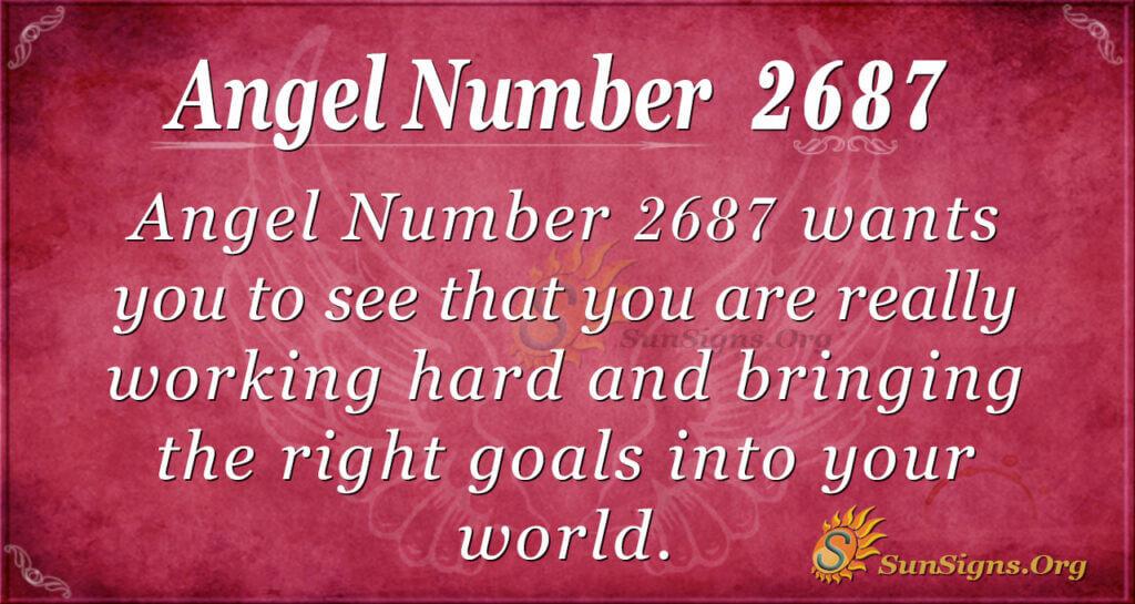 Angel Number 2687
