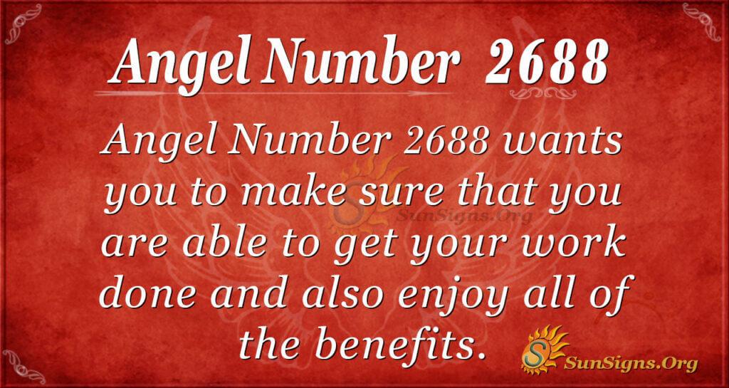 Angel Number 2688