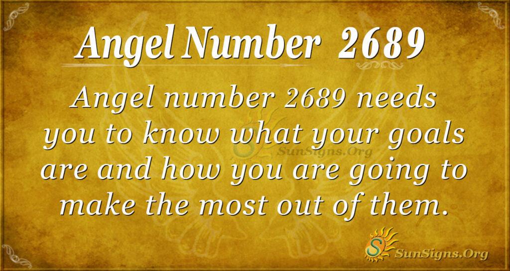 Angel Number 2689