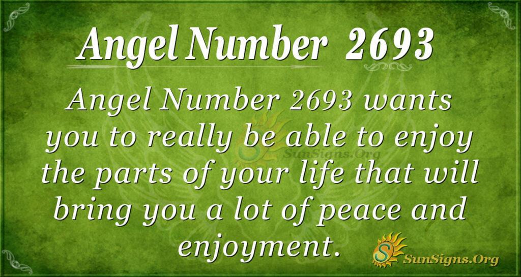 Angel Number 2693