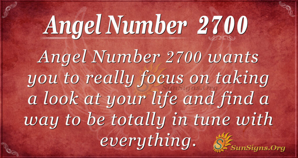 Angel number 2700