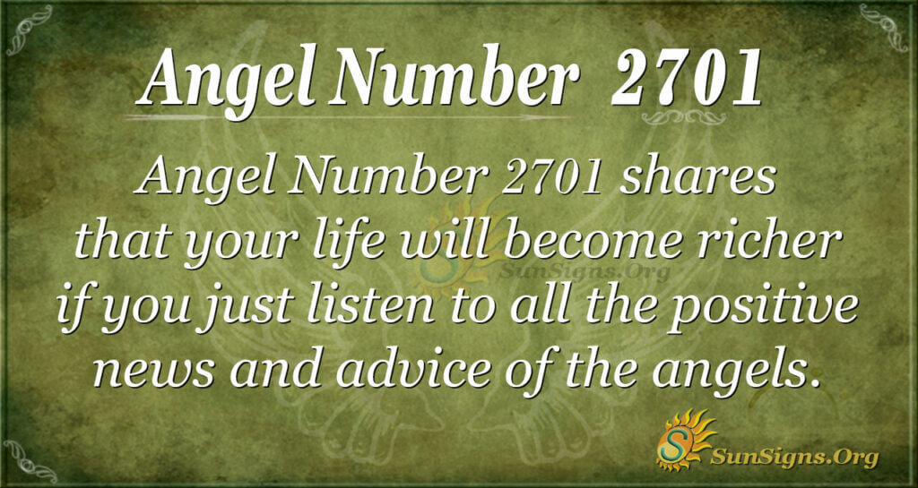 Angel Number 2701
