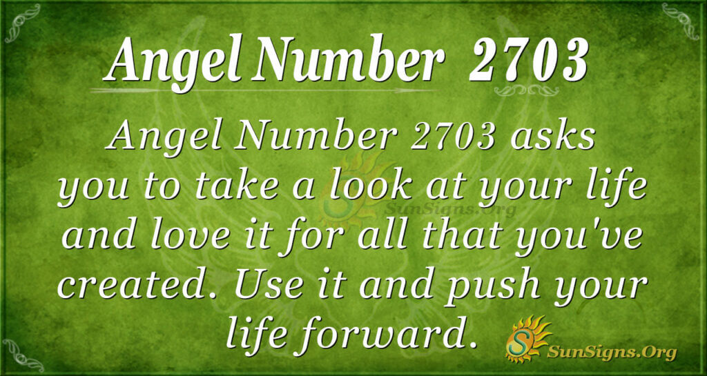 Angel Number 2703
