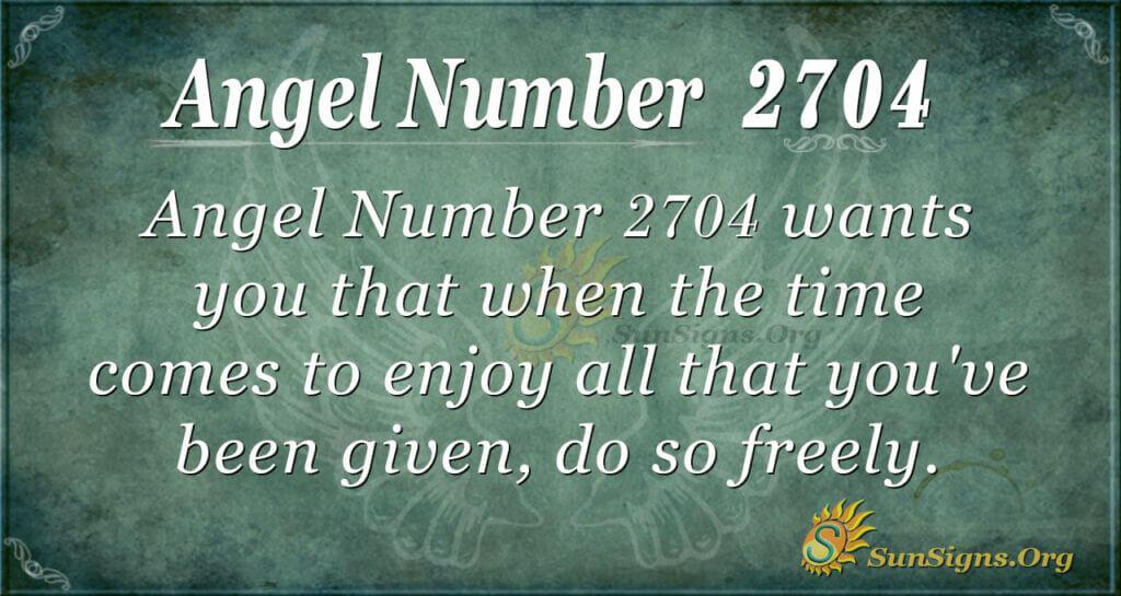 Angel number 2704