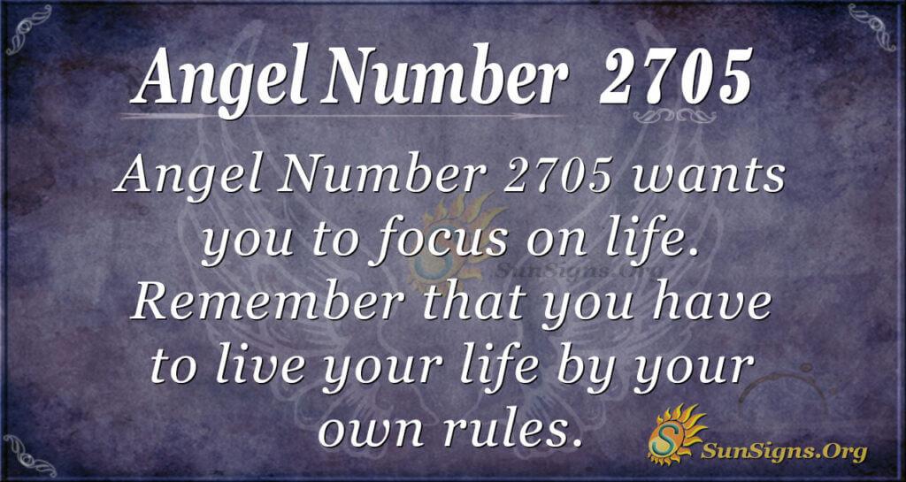 Angel Number 2705